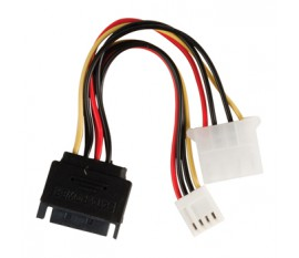 Câble d'alimentation interne SATA mâle à 15 broches - Molex Femelle + FDD Femelle 0.15 m