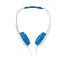 Casque Filaire | Câble Rond de 1,20 m | Supra-auriculaire | Bleu/Blanc