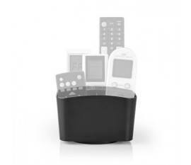 Support pour télécommande | Rotation sur 360° | 5 compartiments | Noir