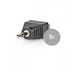 Connecteur de Sécurité CCTV | 5x | Câble à 3 Fils vers Connecteur Male de 3,5 mm