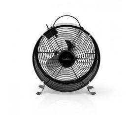 Ventilateur de Bureau Rétro   Diamètre 25 cm   2 Vitesses   Noir
