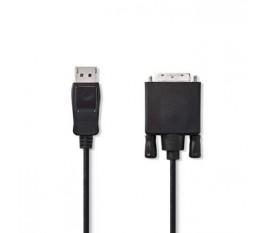 Câble DisplayPort vers DVI   DisplayPort Mâle - DVI-D Mâle à 24 + 1 Broches   3,0 m   Noir