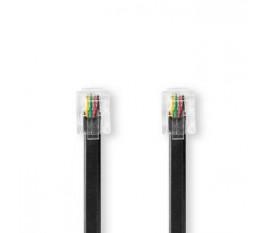 Câble de Télécommunication   RJ11 Mâle   RJ11 Mâle   2,0 m   Noir