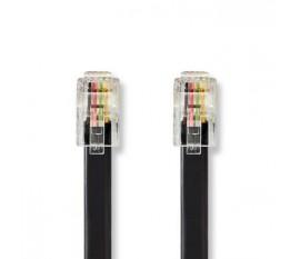Câble de Télécommunication   RJ10 Mâle   RJ10 Mâle   2,0 m   Noir