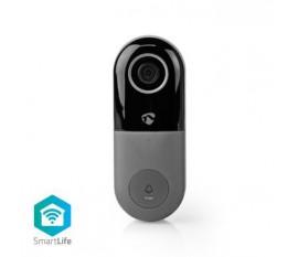 Sonnette Vidéo Intelligente Wi-Fi | Contrôle depuis l'Application | Emplacement pour Carte MicroSD | HD 720p