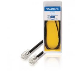 Câble de Télécommunication RJ11 (6P4C) Femelle - RJ11 (6P4C) Femelle Nappe 2.00 m Noir
