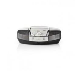 Boombox | 12 W | Bluetooth® | Lecteur de CD / Radio FM / USB / Aux | Blanc