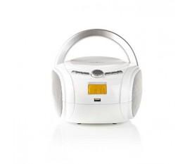 Boombox | 9 W | Bluetooth® | Lecteur de CD / Radio FM / USB / Aux | Blanc