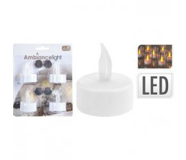 TEALIGHT WITH LED SET OF 4PCS
