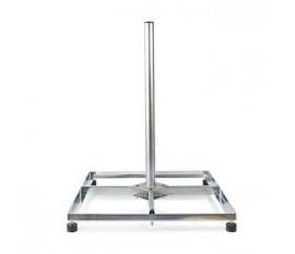 Socle de Satellite pour Balcon | Taille Maximale de l'Antenne Parabolique : 90 cm | 4 x 30 x 30 cm | Acier