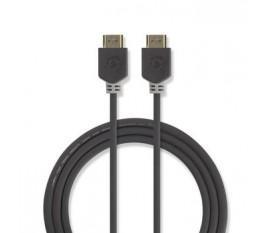 Câble HDMI™ Haute Vitesse avec Ethernet   Connecteur HDMI™ - Connecteur HDMI™   20 m   Anthracite
