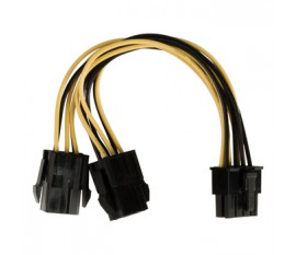 Câble d'alimentation interne EPS 8-pins Mâle - 2x PCI Express Femelles 0.15 m
