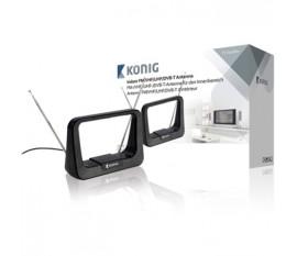 Antenne FM/VHF/UHF/DVB-T d'intérieur 5à 7dB