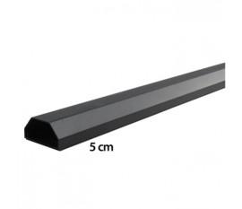 LCD plasma blacke gespoten aluminium kabelgoot 110 / 5 cm