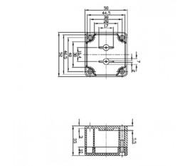 Aluminium Boîtier Box électronique alimentation montage Boîte de raccordement 171x121x55 MM