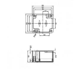 ABS enclosure 64x58x35 mm