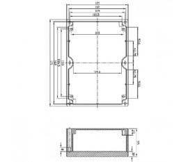 Aluminium enclosure 171x121x55 mm