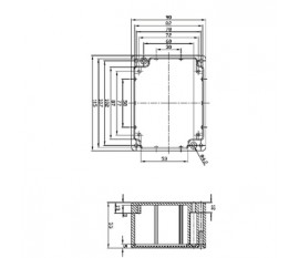 Aluminium enclosure 115x90x55 mm