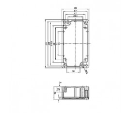 Aluminium enclosure 115x65x30 mm