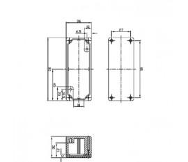 Aluminium enclosure 90x36x30 mm