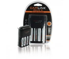Chargeur UE Delta3 + 4 batteries AA 2700mAh Ni-MH