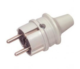 Rubber power plug light grey