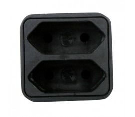 2-way plug euro black