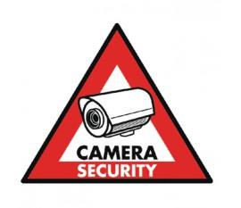 Autocollant caméra de sécurité 123 x 148mm