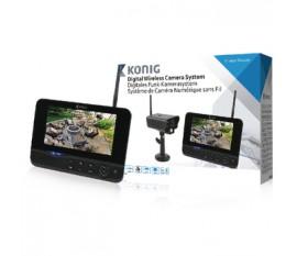 """Système de caméra numérique sans fil 2,4 GHz avec moniteur 18 cm (7"""")"""