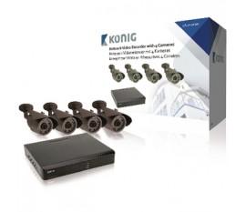 Enregistreur vidéo en réseau avec 4caméras