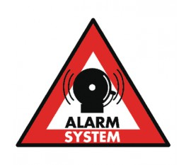 Autocollant de système d'alarme 123 x 148mm