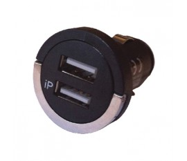 Charger 12-24V w/USB twin female contacts 2A