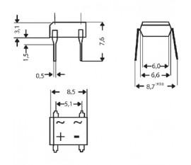 Bridge rectifier dil =dB107