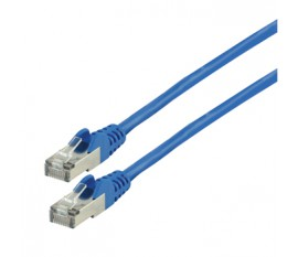 FTP CAT 6a network cable 0.50 m blue