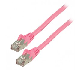 FTP CAT 6 network cable 0.50 m pink