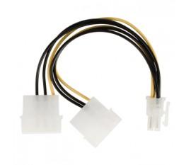 Câble d'alimentation P4 à connecteur P4 mâle vers P4 mâle 0,15 m multicolore
