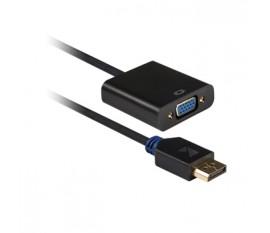 Câble adaptateur DisplayPort vers VGA, DisplayPort mâle vers femelle VGA, 0,20m, gris
