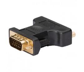 Adaptateur VGA vers DVI, VGA mâle vers DVI-I femelle, 1 pce, gris