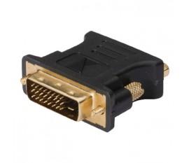 Adaptateur DVI vers VGA, DVI-I mâle vers VGA femelle, 1 pce, gris