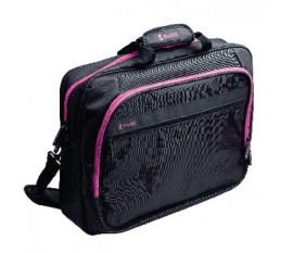 """Sacoche pour ordinateur portable 15"""" / 16"""" coloris rose vif"""