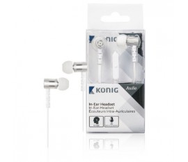 Écouteurs intra-auriculaires blancs à câble plat, 10mm