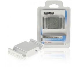 Support universel en aluminium argent pour smartphone