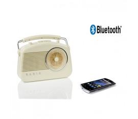 Radio rétro équipée de la technologie sans fil Bluetooth®