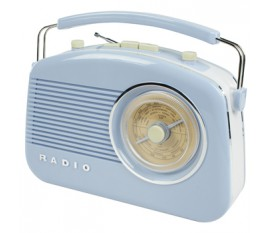 Radio AM/FM design rétro bleu