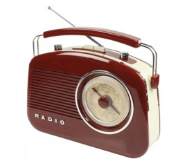 Radio AM/FM design rétro marron