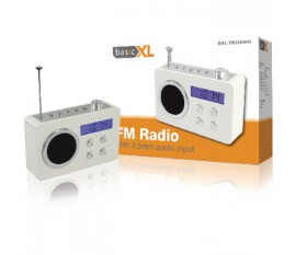 Portable FM radio white
