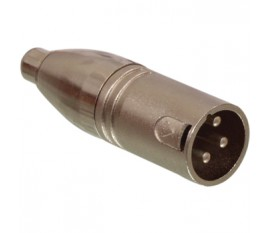 3p RCA male - 3p XLR male adapter