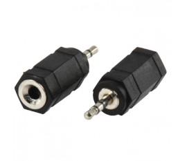 Adapter plug 2.5mm stereo plug to 3.5mm stereo socket