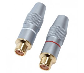 High quality RCA audio sockets (2x)