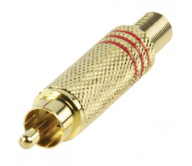RCA plug goldplated red